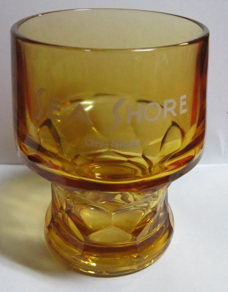 vintage Sea Shore restaurant City Island Bronx NY New York amber glass