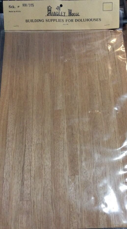 Handley House Dollhouse Wood Paneling Floor Flooring Hh/105 New Sealed