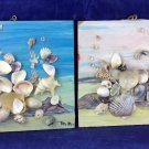 Vintage Sea Shell Folk Art Wall Hanging Paintings 3d With Real Shells Seashell