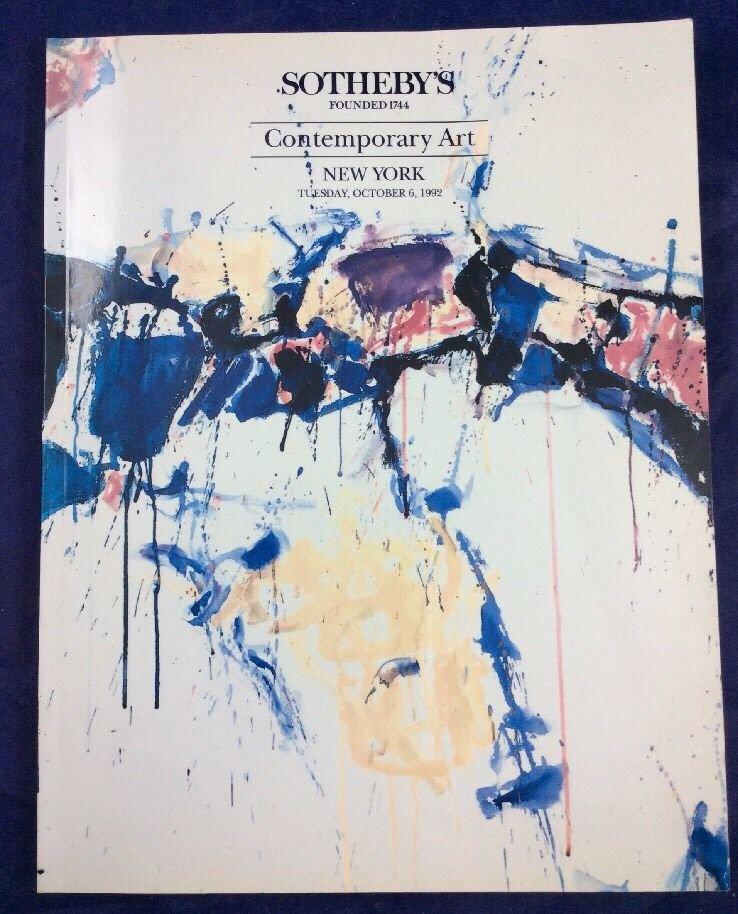 Sotheby's Contemporary Art Auction Catalogue Catalog October 6 1992 Sam Francis