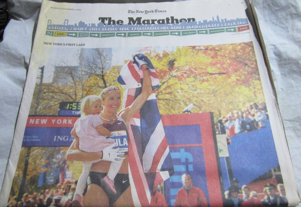 2008 NY Marathon insert in the New York Times~November 3 2008~Paula Radcliffe