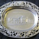 1939 New York World's Fair silver tray~ashtray~NY souvenir dish~Free US Ship