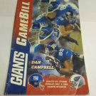 New York Giants vs Tennessee Titans Game day NFL program~December 1 2002