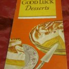 vintage Good Luck Desserts~recipe for use w/ Good Luck Dessert mix~FREE US SHIP