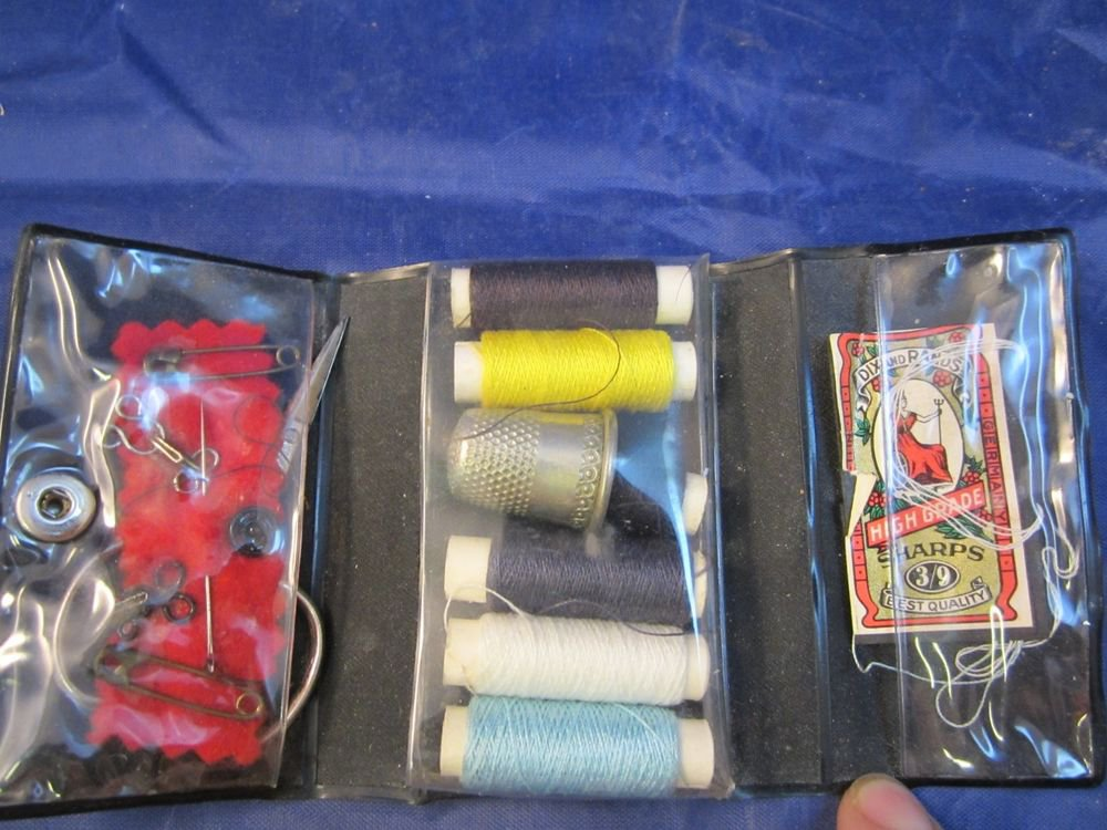 vintage mini travel sewing kit made in Germany