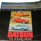 1970 Datsun car booklet/advertising pamphlet brochure for 2-door 4-door & wagon