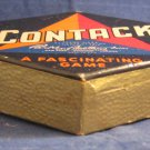 Antique/vintage board/card game Contack game~Parker Brothers~Hexagon Box 1939