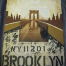 Brooklyn Bridge NY painting mixed media art artwork Mauro Biaocco NYC New York