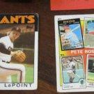 110+ vintage baseball football & hockey cards~1980's~Pete Rose~FREE US SHIP