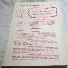 House of Herbs~Salisbury CT~recipes~vintage kitchen ephemera~FREE US SHIP~2