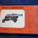 vintage Cannon model kit Italy Aeropiccola Antico Modello di Cannone Da Marina