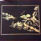 Vintage Wheat Stalk Cutting Picture 9 X 11 Chinese China Art Folk Art