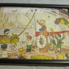 vintage framed jigsaw puzzle~Pee Wee by Iger~S.S. Pee Wee & S.S. Mammoth~comics
