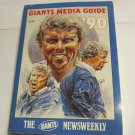 1990 New York Giants Media Guide byNewsweekly~Bill Parcells on cover