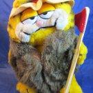vintage Garfield Plush Big Cat on Campus BCOC pennant fur coat Dakin stuffed toy