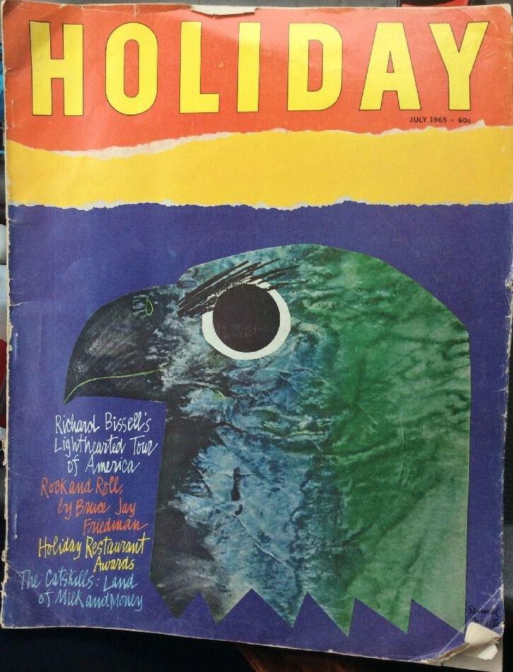 Vintage July 1965 Holiday Magazine The Catskills Travel Samuel Maitin Eagle