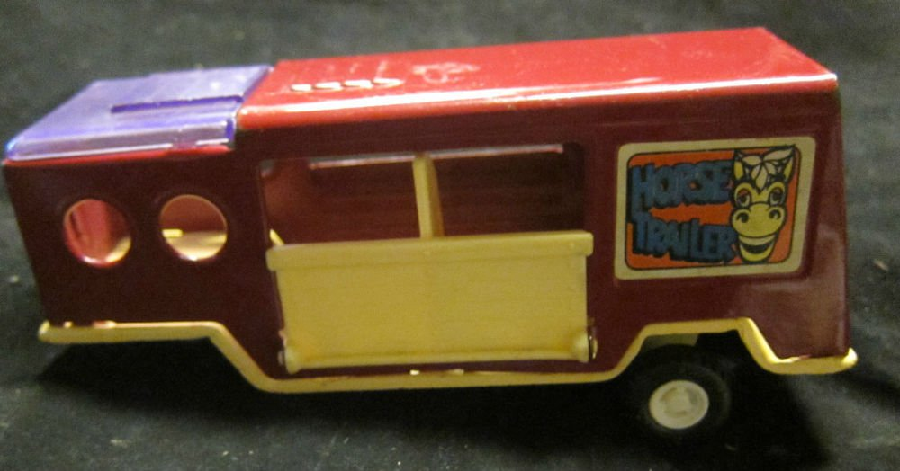 Horse Trailer Buddy L Made in Japan pressed steel vintage toy
