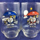 Ziggy 7Up Soda Collector Glasses Red Blue Glass Here's To Good Friends 7 up