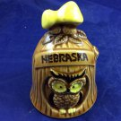 Vintage Nebraska Souvenir Ceramic Bell Owl and mushroom retro kitsch