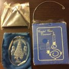 Vintage Henco Crystal Clear Ornament Merry Christmas 1980 With Stand Number 6