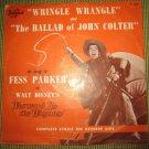 Fess Parker~Walt Disney's Westward Ho the Wagons record~Disneyland Records