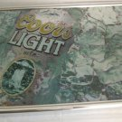 Coors Light framed beer sign~great for a bar~FREE US SHIPPING