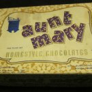 vintage Aunt Mary Homestyle Chocolates box~Royal Confectionery Company Boston MA
