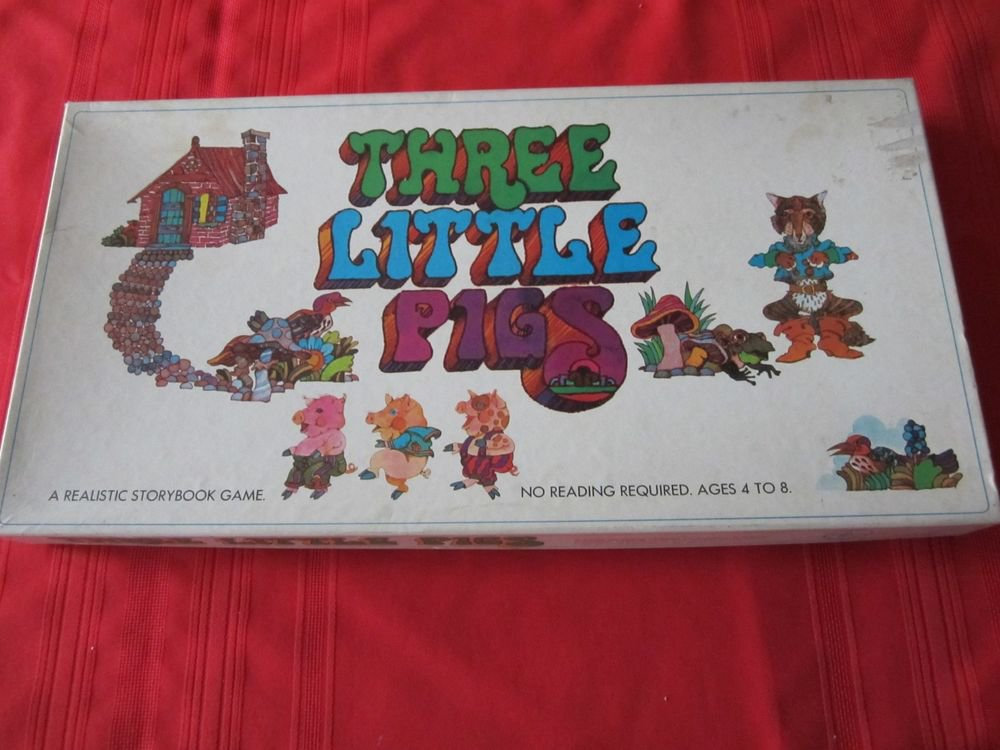 Vintage 1971 Three Little Pigs board game Selchow & Righter Company SelRight