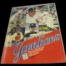 1986 New York Yankees vs Texas Rangers scorebook & souvenir program~Lou Piniella