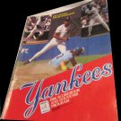 1986 New York Yankees vs Kansas scorebook & souvenir program Willie Randolph