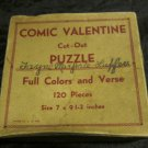 vintage Comic Valentine Cut-Out Puzzle of Grocer 1930's 1940's Valentine's Day