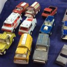 12 Tootsietoy Vehicles Vintage Tootsie Toy Cars 1960s 1970s