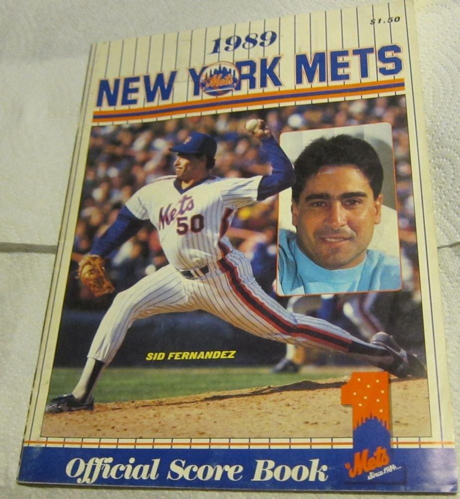 1989 New York Mets Official Score Book & Program~Sid Fernandez~Phillies baseball
