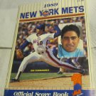 1989 New York Mets Official Score Book & Program~Sid Fernandez~Phillies baseball