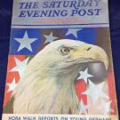 July 1 1939 The Saturday Evening Post World War II American USA Eagle Germany