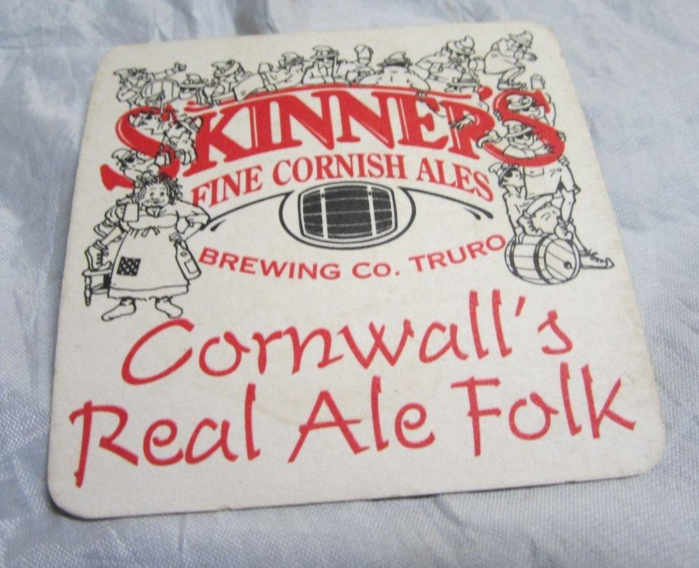 Skinner's Fine Cornish Ales beer coaster/beer mat~Truro Cornwall UK