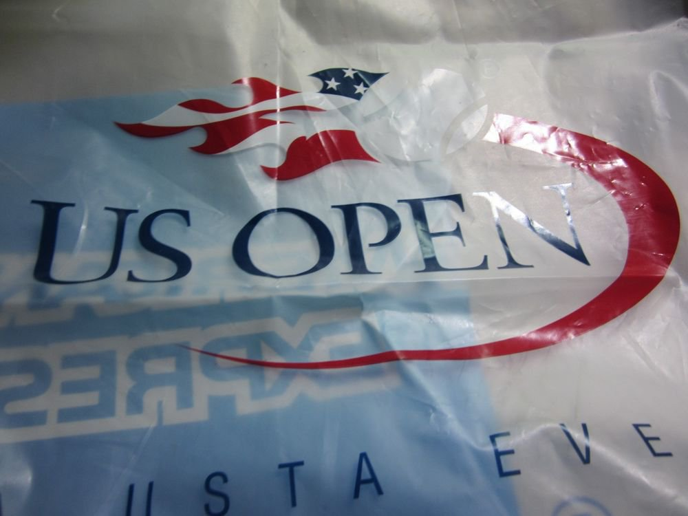 2012 US Open Tennis Championship large plastic shopping bag