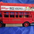 Matchbox Models of Yesteryear AEC S-type red doubledecker bus~Rice Krispies