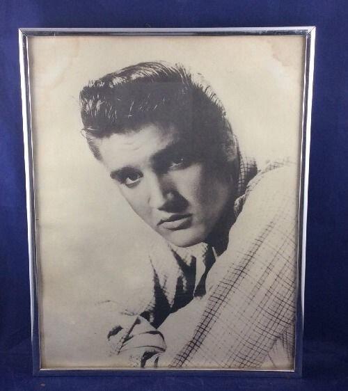 Vintage Elvis Presley Photo Print Framed 11 X 14