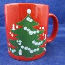 Vintage Waechtersbach Red Christmas Tree Mug made in West Germany
