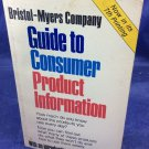 Vintage Bristol Myers Company Guide To Consumer Product Information Bess Myerson