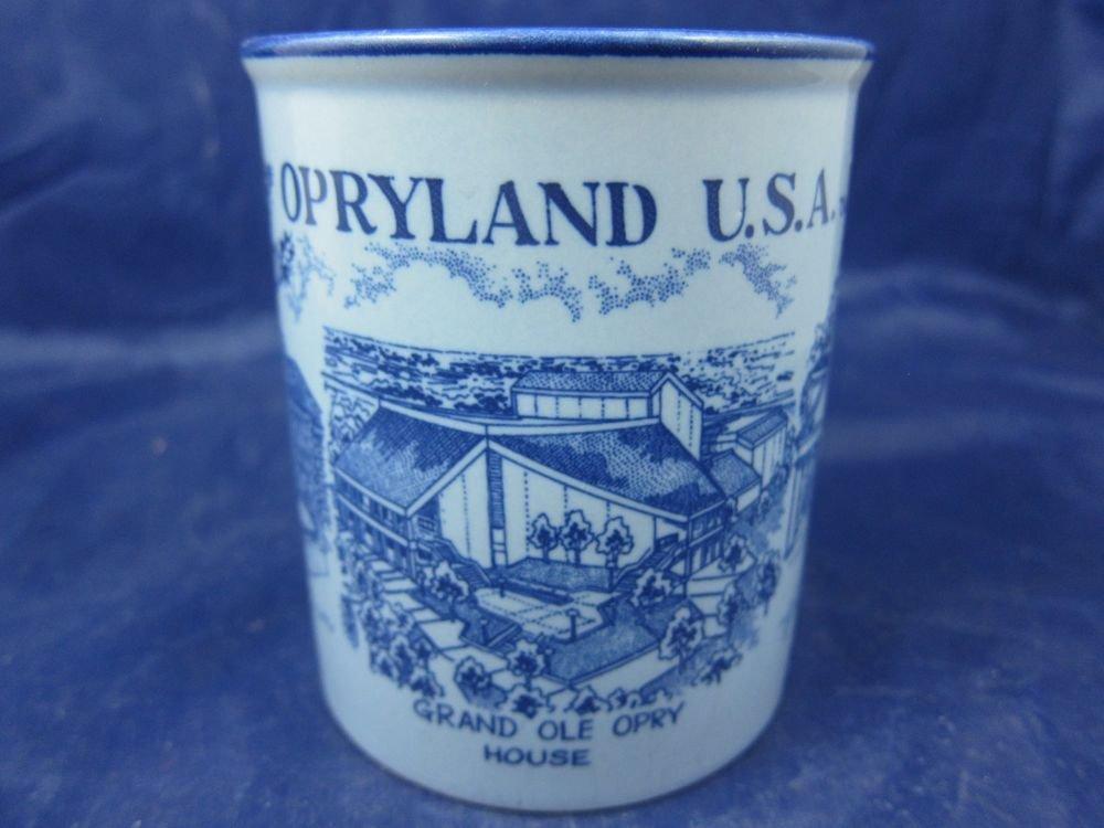 Vintage Opryland USA blue Souvenir Mug Nashville Roy Acuff Museum Opry House