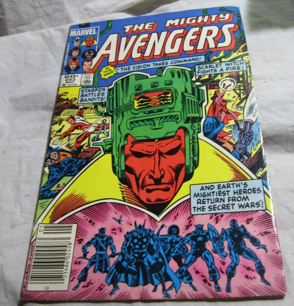 vintage The Mighty Avengers comic book~May 1984~Marvel comics #243