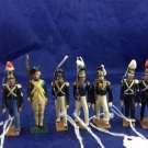 9 CBG Mignot Toy Soldiers Lot Of Antique Vintage Military Toys Mignots