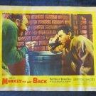 Monkey on My Back:The Story of Barney Ross LOBBY CARD 1957~film~movie~freeUSship