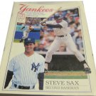 1989 New York Yankees scorebook & souvenir program~Steve Sax~Cleveland Indians