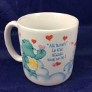 Vintage 1984 Care Bears Mug All Heart Is The Nicest Way To Be