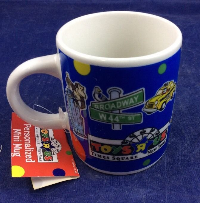 Toys R Us Times Square New York City NYC Blue Collectible Mug New with Tag