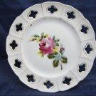 Vintage Ceramic Victoria Pottery Altrohlau Bohemia plate dish with rose floral