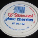 Snowcrest Glace Cherries container vintage Salem MA Snow Crest advertising
